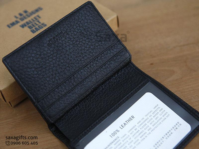 Ví da in logo – Kiểu ví đựng thẻ ATM có ngăn để ảnh