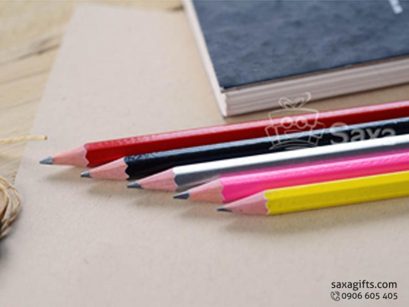Bút chì in logo thân lục giác giá rẻ