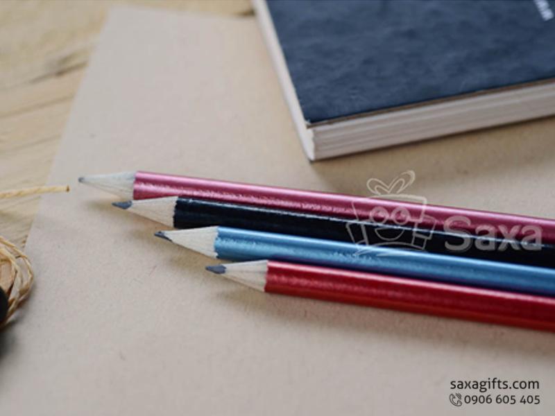 Bút chì in logo thân tròn nhập khẩu