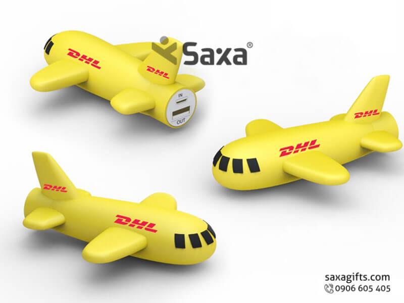 Pin sạc dự phòng in logo mô hình máy bay DHL