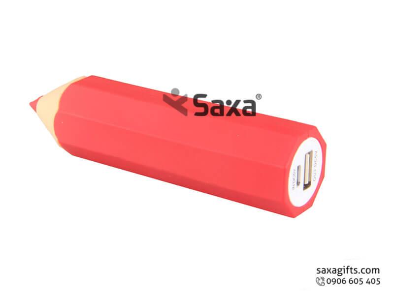 Pin sạc dự phòng in logo mô hình bút chì