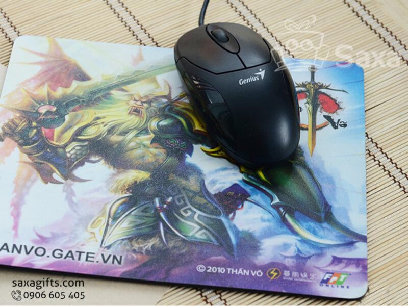 Tấm lót chuột in logo quảng cáo game