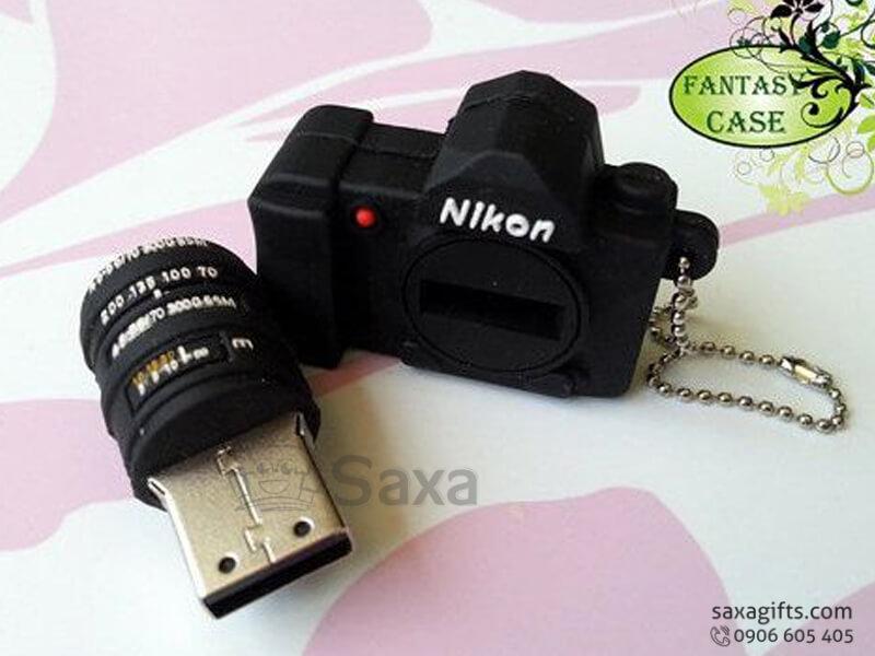 USB cao su làm theo mẫu 3D mô hình máy ảnh Nikon