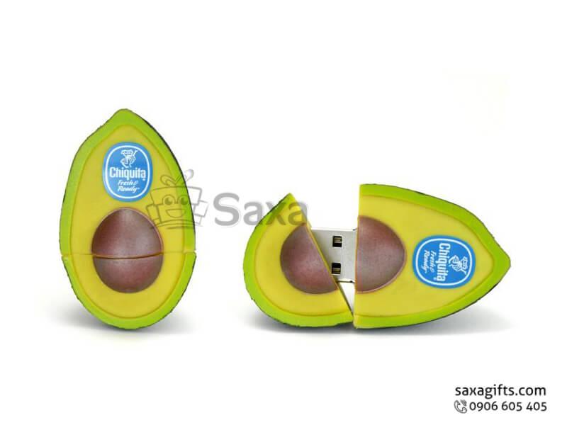 USB cao su làm theo mẫu 3D mô hình quả bơ