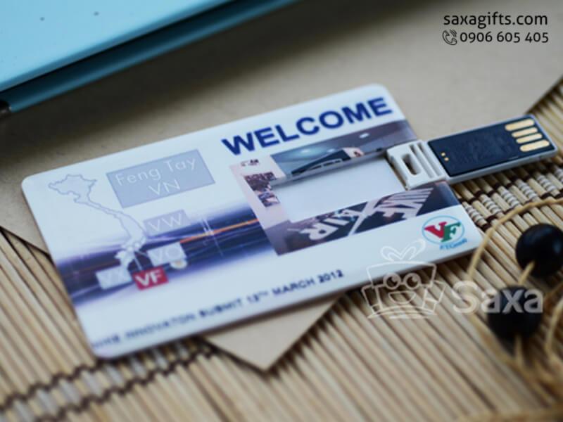 USB dạng thẻ nhựa in logo giá rẻ