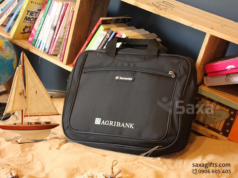 Túi laptop – Túi xách laptop quà tặng in logo Agribank, chống sốc