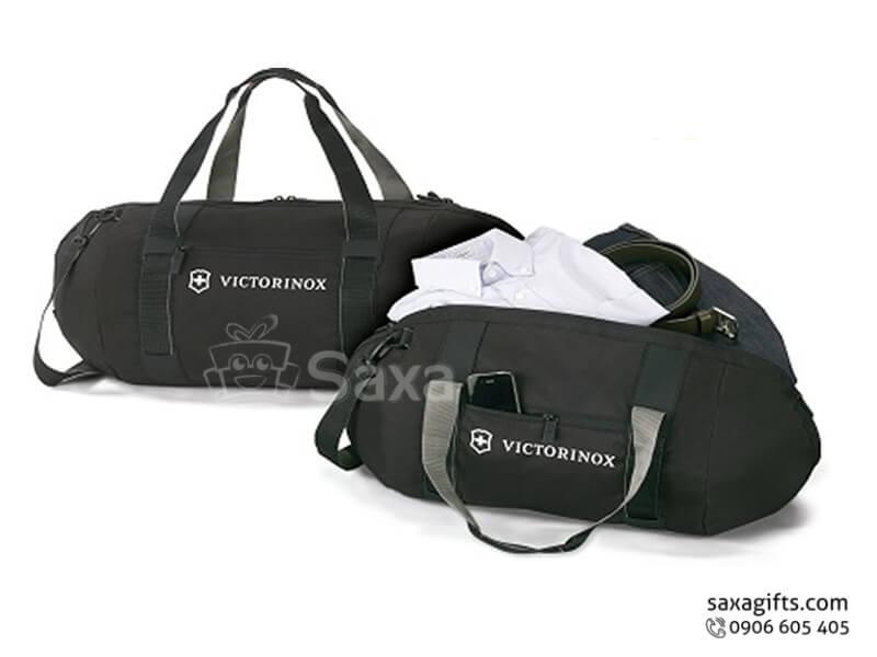 Túi du lịch in logo vải dù hình trống Victorinox