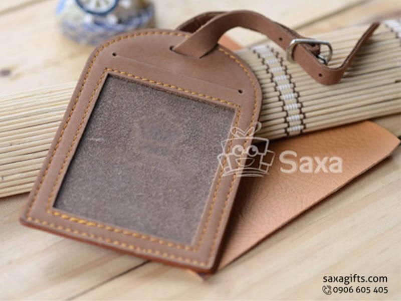 Thẻ đeo vali hành lý in logo chất liệu da bò nhập khẩu cao cấp