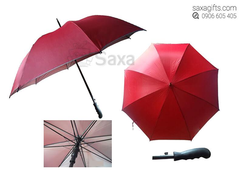 Dù cầm tay in logo cán thẳng 2 ya chống tia cực tím màu đỏ (Hand Umbrella)