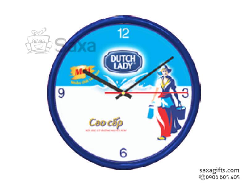 Đồng hồ treo tường in logo Dutch Lady