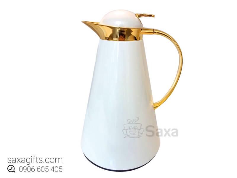 Bình giữ nhiệt in logo hiệu Moriitalia xi mạ vàng sang trọng