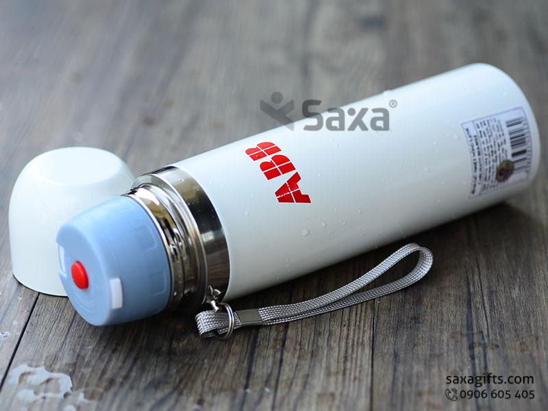 Bình giữ nhiệt in logo ABB - Thương hiệu Carlmann màu trắng