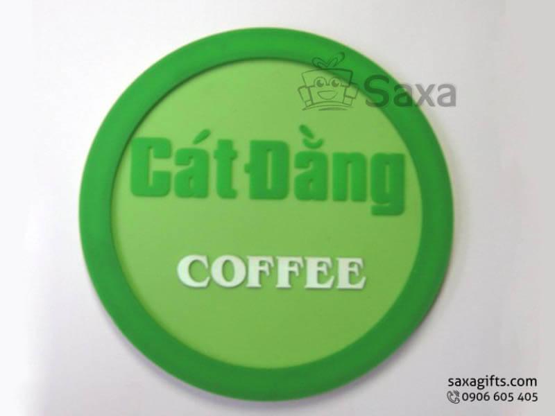 Lót ly cao su đổ khuôn in logo Cát Đằng Coffee