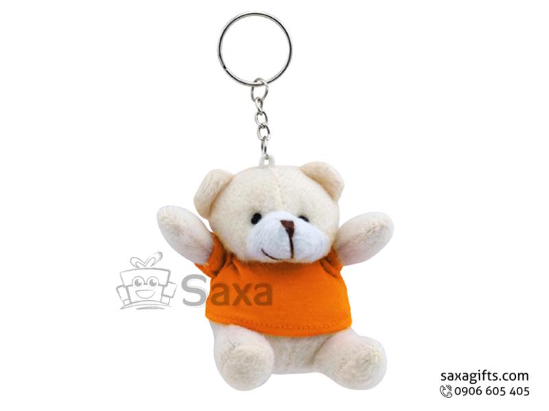 Gấu nhồi bông in logo kết hợp móc khóa