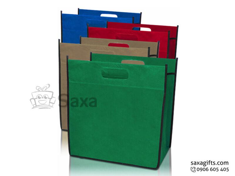 Túi môi trường in logo dạng túi hộp viền phối màu nổi bật