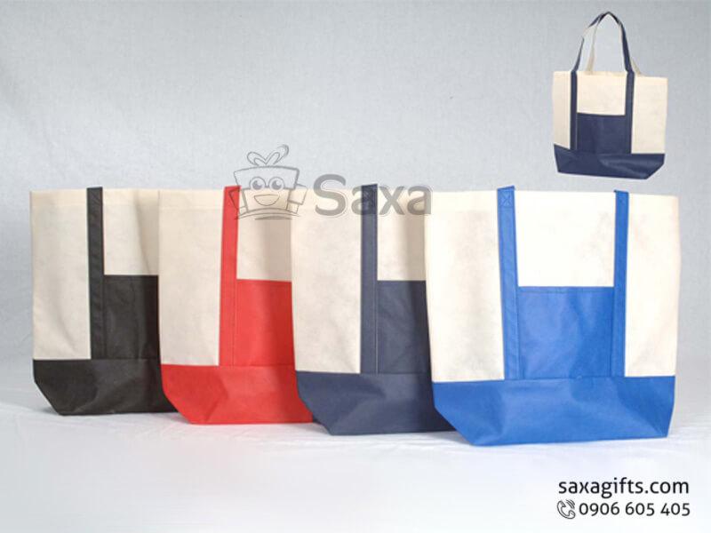 Túi vải dù in logo có quai xách phối màu cá tính