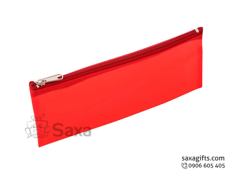 Túi vải dù in logo cầm tay màu đỏ
