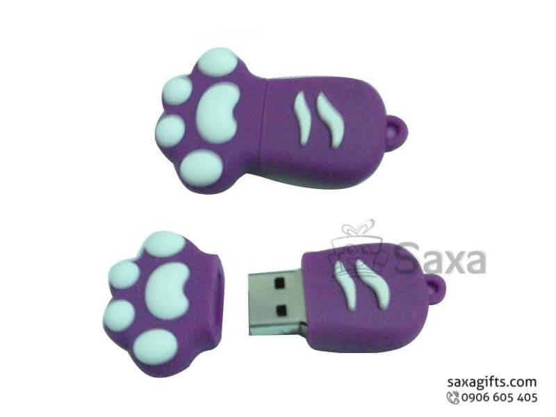 Usb cao su hình bàn chân mèo ngộ nghĩnh
