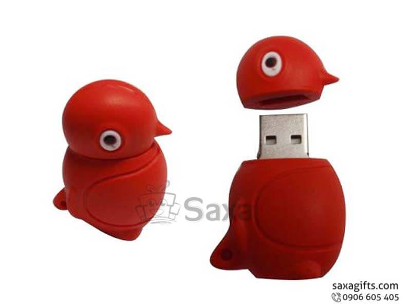 USB cao su đổ khuôn 3D nắp rời hình con vịt