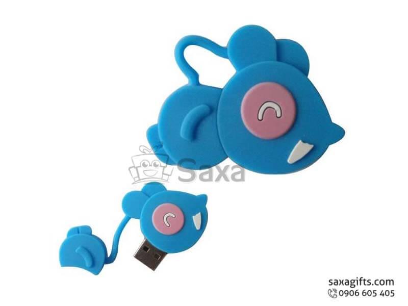 USB cao su đổ khuôn 2D nắp rời hình con chuột