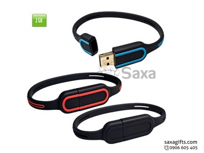 USB vỏ cao su làm theo mẫu vòng đeo tay nắp rời