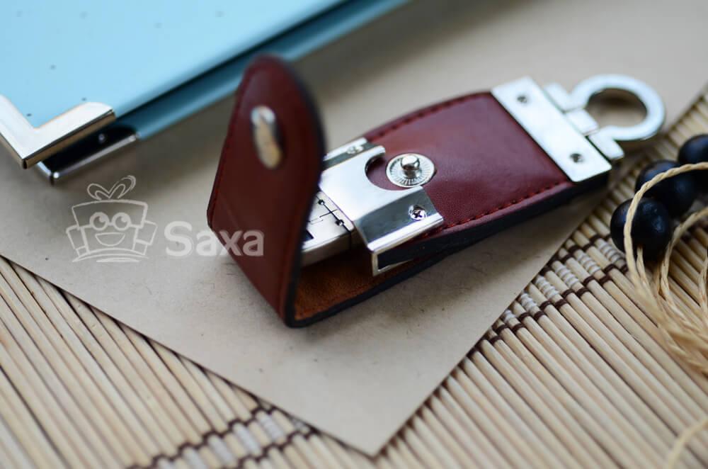 USB da móc khóa nút bấm (Leather USB)