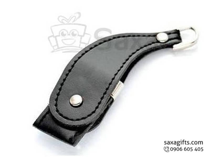 USB da móc khóa xoay 360 độ hình tù và(Leather USB)