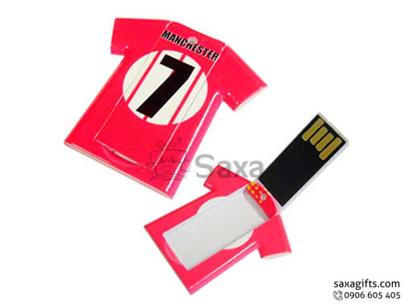 Usb thẻ nhựa in logo mô hình chiếc áo cầu thủ