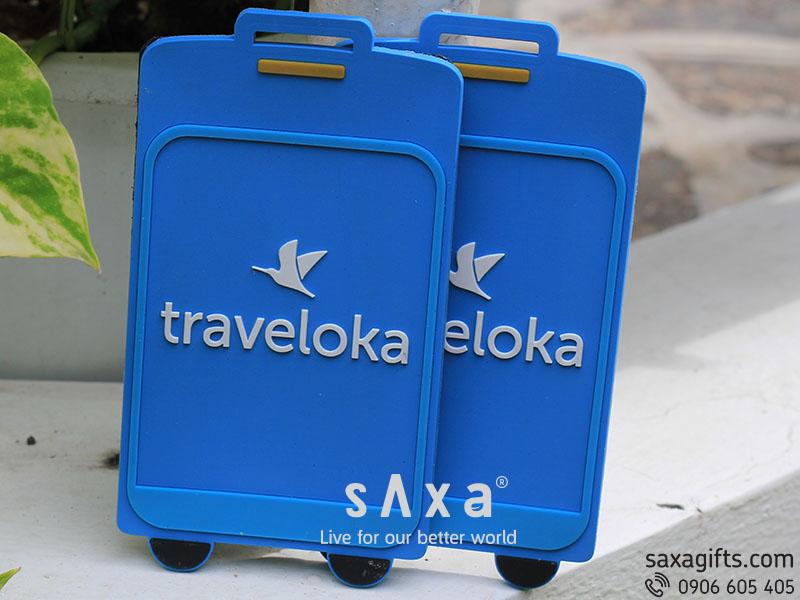 Thẻ gắn vào vali hành lý đổ khuôn 2D theo thiết kế của Traveloka